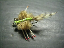 6 Mini D's Crab Flat Tan # 4 Fly Fishing Flies Brookside Crabs Bonefish
