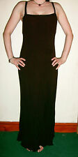 Black 'Planet' party maxi dress goth gothic size 8 Whitby