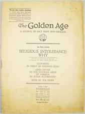 Golden Age Magazine #363 Aug 16 1933 Machine Guns Watchtower Jehovah