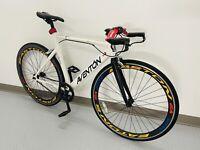 White Aventon Mataro Track Bike 55 cm