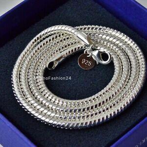 SCHLANGENKETTE 4mm Halskette Kette 925 Silber Versilbert  45, 50, 55, 60 cm TOP