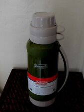 Coleman NWT Insulated PlasticThermos Bottle green 1.75 Qt., Double Walled 2 cups