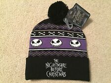 JACK Skellington The NIGHTMARE Before CHRISTMAS Women's NEW movie Beanie Hat CAP