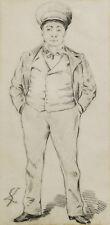 Gustave LEHEUTRE peintre troyen Troyes dessin tableau portrait homme casquette