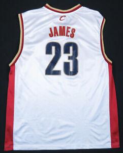Lebron James Cleveland Cavaliers Reebok Rookie NBA Basketball White #23 Jersey