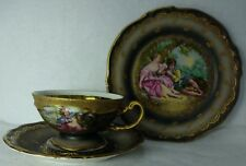 HERTEL JACOB Bavaria Germany Cup & Saucer & Salad Plate - COUPLE - Women & Man