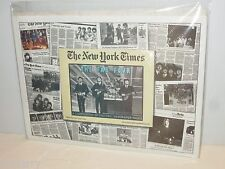 BEATLES NEW YORK TIMES REISSUE FAB FOUR NEWSPAPER ISSUE