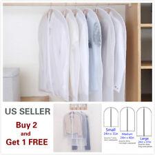 2pcs Dust proof Clothes Garment Suit Dress Jacket Storage Bag Cover Travel Coat