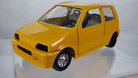Vintage Burago Fiat Cinquecento 500 Sporting 1991 1:24 Rare Collectible Toy Car