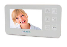 "MONITOR video NORDSTOM 2 AVIDSEN 122130 monitor 4,3"" per video citofono BIANCO"