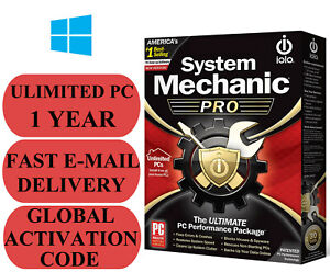IOLO System Mechanic Pro Unlimited PC 1 YEAR GLOBAL ACTIVATION CODE 2021 E-MAIL