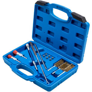 14pcs Universal Injector Seats Cleaning Brush Set Cleaning Diesel Injectors Tool