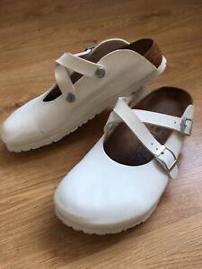 Birkis Birkenstock Women 37 EU 6 6.5 US Dorian Clogs Nurse Sandals Cross Straps