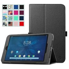 For Onn 8 inch Tablet Slim Fit PU Leather Folio Case Cover Stand w/Pencil Holder