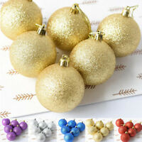 6pcs 60mm Christmas Tree Decor Ball Bauble Hanging Home Xmas Party Ornament Hot