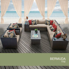 Bermuda 11 Piece Outdoor Wicker Patio Furniture Set 11d