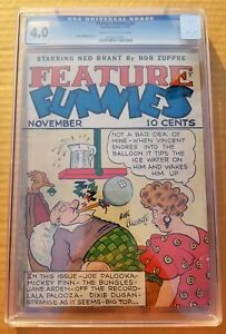Feature Funnies #2 CGC 4.0 Rube Goldberg Cover