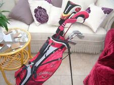 RIGHT HAND SET CALLAWAY XJ SERIES GOLF CLUBS JUNIOR AGED 10 TO 14 +EXTRAS
