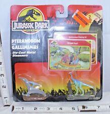 KENNER JURASSIC PARK 1993 PTERANODON & GALLIMIMUS METAL DINOSAUR FIGURES MOC