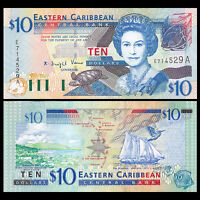 Lot 10 PCS P-30 UNC Guyana 20 Dollars Banknotes ND 1996