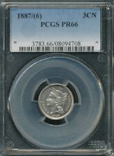 1887/(6) Copper-Nickel 3-Cent Piece Proof PCGS PR 66