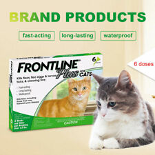 Frontline Plus Flea and Tick Control and Treatment for Cats 6-Doses