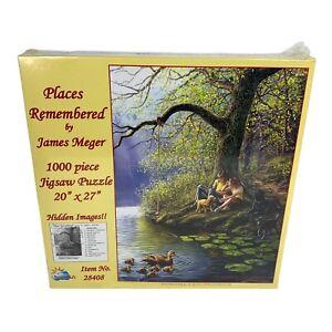 """SunsOut Hidden Images Places Remembered James Meger 1000 Puzzle 20"""" x 27"""""""