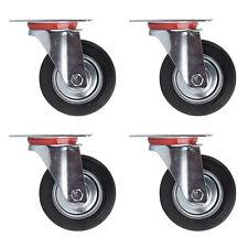 Lenkrollen mit Bremse Lenkrollen Transportrollen Schwerlastrollen StahlVerzinkt