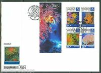 SOLOMON ISLANDS  2014  CORALS   SHEET FIRST DAY COVER