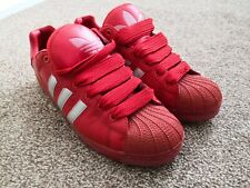 Adidas Ultrastar (Like Superstar) Red & Silver Stripe Size UK 11 Trainers Rare