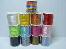 (m/0,115€) 50m Flechtkordel Satin 1mm ver. Farben Satinkordel 1,0mm Kordel