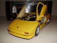 1:18 LAMBORGHINI DIABLO 1990 Bburago Modellauto Gelb Diecast Model Sport Coupe