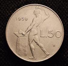 1959  Repubblica Italiana 50   lire