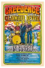 Creedence Clearwater Revival at L.A. Concert Poster 1970 Wide Format  24x36
