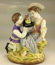 "Antique Early Mark Sitzendorf Porcelain Figurine "" Young Lovers"""