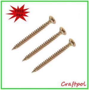 Top Quality Multipurpose wood screws, yellow zinc passivated