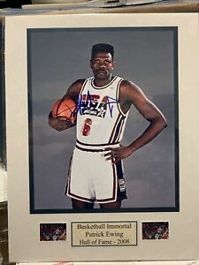 Patrick Ewing USA New York Knicks Signed Autograph 8x10 Photo Framed & Matted