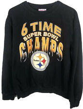 Vintage Pittsburgh Steelers Super Bowl Camps Sweatshirt Size Large EUC Mitchell