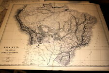 #4121,Large Map BRAZIL,BOLIVIA,ECUADOR,PERU 1875, From Hardesty Atlas