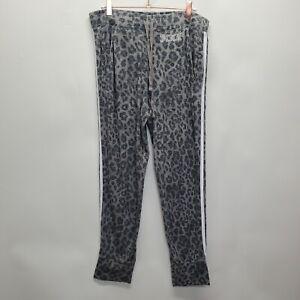 Victorias Secret Pink Sleepwear Pajama Pants sz L Gray Leopard Joggers