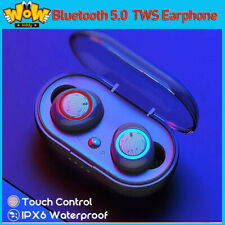 Wireless Deep Bass Earbuds For iPhone Samsung Android Earphone Waterproof W/Mic
