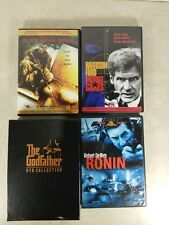 DVD Lot Black Hawk Down, Patriot Games, Godfather Collection, Ronin VG Free ship