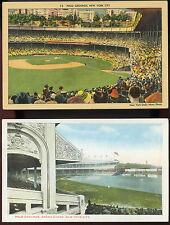 New York Giants Postcards - Vintage 1930 to 1940's ( 2 Total ) Ex. Cond.