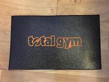 "Total Gym Floor Mat 20"" x 12"" with Orange Lettering"