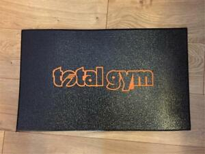 """Total Gym Floor Mat 20"""" x 12"""" with Orange Lettering"""