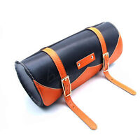 NEW Motorcycle Saddlebag Roll Barrel bag Storage Tool Pouch For Harley Davidson