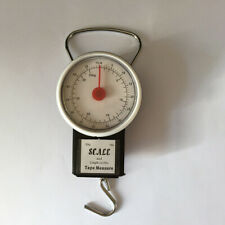 Portable Luggage Weight Hook Scale + Tape Measure 32kg/70 Pounds  Kitchen Tool