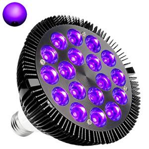 Black Light Bulb, KINGBO 36W LED Blacklight E26 PAR38 Glow in The Dark, 395nm DJ