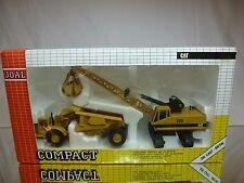 JOAL COMPACT 382 CATERPILLAR CRANE 225 + DUMPTRUCK - MUSTARD 1:60? - GOOD IN BOX