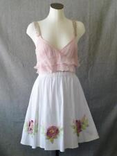 Wearable Art-to-Wear True Vintage OOAK 3D Rosettes & Embroidered Swing Skirt~M/L
